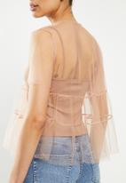 MILLA - Tulle tiered top - blush
