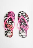 Havaianas - Slim animal print flip flop - multi