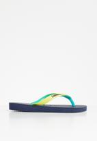 Havaianas - Kids top mix flip flop - navy & yellow