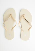 Samba Sol - Cream crystal flip flop - pale pink
