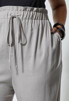 Superbalist - Paperbag pant - grey