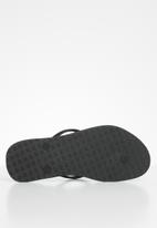 Samba Sol - Ice cream flip flop - black