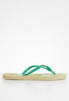 Samba Sol - Mandala flip flop - teal