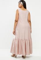 AMANDA LAIRD CHERRY - Plus inyameti dress - blush