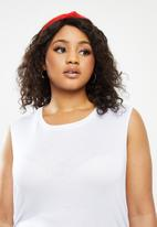 Blake - Ruched bodycon dress - white