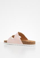 Jada - Double buckle strap slide - pink