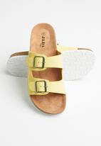 Jada - Double buckle strap slide - yellow