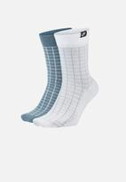 Nike - Snkr sox - blue & white
