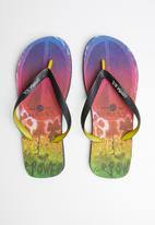 Samba Sol - Hippie peace flip-flop - multi