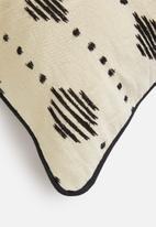Sixth Floor - Indra cushion cover - black & cream