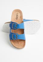 Jada - Double buckle strap slide - blue
