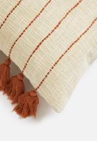 Sixth Floor - Marisol cushion cover - cream & rust