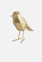 Present Time - Statue bird small - gold