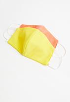Superbalist - Neon 2 pack face mask - yellow & orange