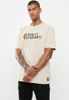 Hurley - Carhartt stacked short sleeve tee - orewood