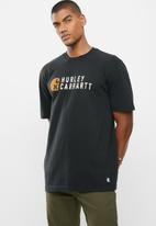 Hurley - Carhartt stacked short sleeve tee - black