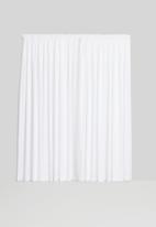 Sixth Floor - Slub lined taped curtain - white