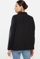 Cotton On - Oversize drop shoulder shirt - washed black