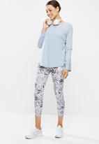 Cotton On - Active rib long sleeve top - baltic blue