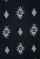 edit - Printed viscose knit harem pant - navy