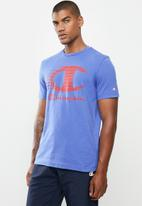 Champion - Legacy-graphic shop vintage T-shirt - purple