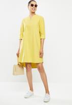 edit - Dolman cotton tunic dress - ochre yellow