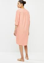 edit - Dolman cotton tunic dress - dusty pink