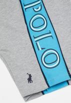 POLO - Boys Greg cut & sew short - grey