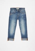POLO - Boys kai distressed slim fit jean - stone wash