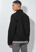 Superbalist - Mod type1 denim trucker jacket - black