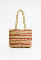 Superbalist - Straw shopper - natural & pink
