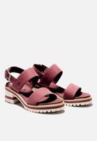 Timberland - Violet marsh 2-band sandal - burgundy