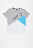 POLO - Boys mason cut & sew printed tee - grey