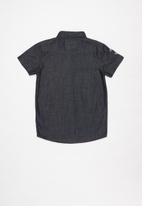POLO - Boys riley numerical short sleeve shirt - medium wash