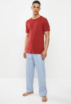 Superbalist - Scoop neck tee & woven pants set - multi