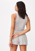 Cotton On - Waffle bed time tank - grey