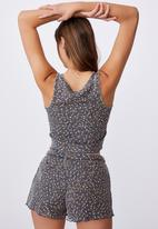 Cotton On - Waffle bed time tank - navy