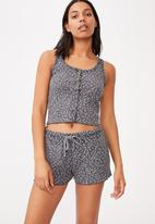 Cotton On - Waffle bed time tank - charcoal