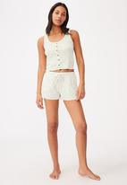 Cotton On - Waffle bed time tank - light yellow