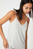 Cotton On - Sleep recovery v-neck nightie - grey
