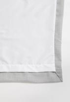 Sixth Floor - Slub lined eyelet curtain - grey