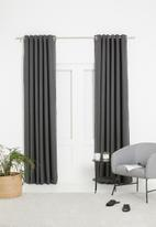 Sixth Floor - Metro self-lined eyelet curtain - charcoal