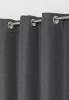Sixth Floor - Metro self-lined eyelet curtain 2 pack - charcoal