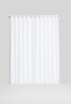 Sixth Floor - Slub lined eyelet curtain - white