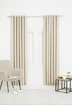 Sixth Floor - Slub lined eyelet curtain - natural