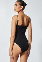 Superbalist - Rib corset bodysuit - black