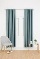 Sixth Floor - Metro self-lined eyelet curtain 2 pack - duck egg