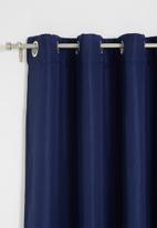 Sixth Floor - Metro self-lined eyelet curtain 2 pack - navy blue
