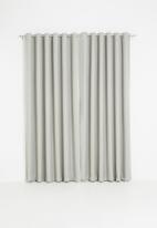 Sixth Floor - Metro self-lined eyelet curtain 2 pack - neutral