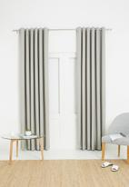Sixth Floor - Metro self-lined eyelet curtain 2 pack - neutral